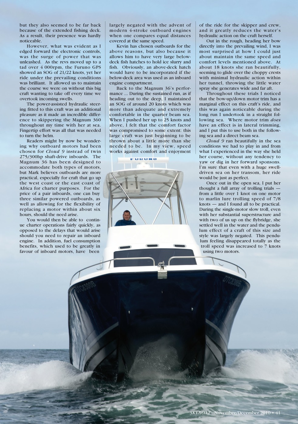 Magnum 36 Ski Boat Dec 2010 2