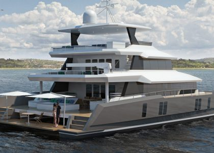 Two OCeans 870 Power Catamaran